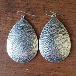 Metallic silver earrings